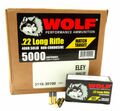 22LR Ammo Wolf Performance 40gr Match Target 5000 Round Case