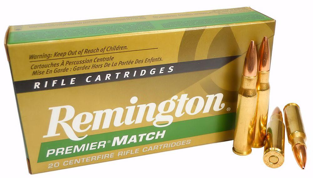 308 Win Ammo 168gr BTHP Remington Premier Match (RM308W7) 20 Round Box