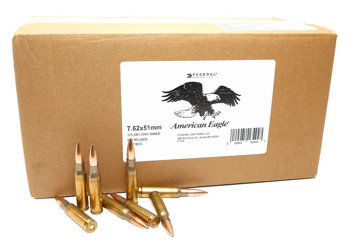 7 62x51mm ammo 175gr otm federal american eagle xm118cs 500 round