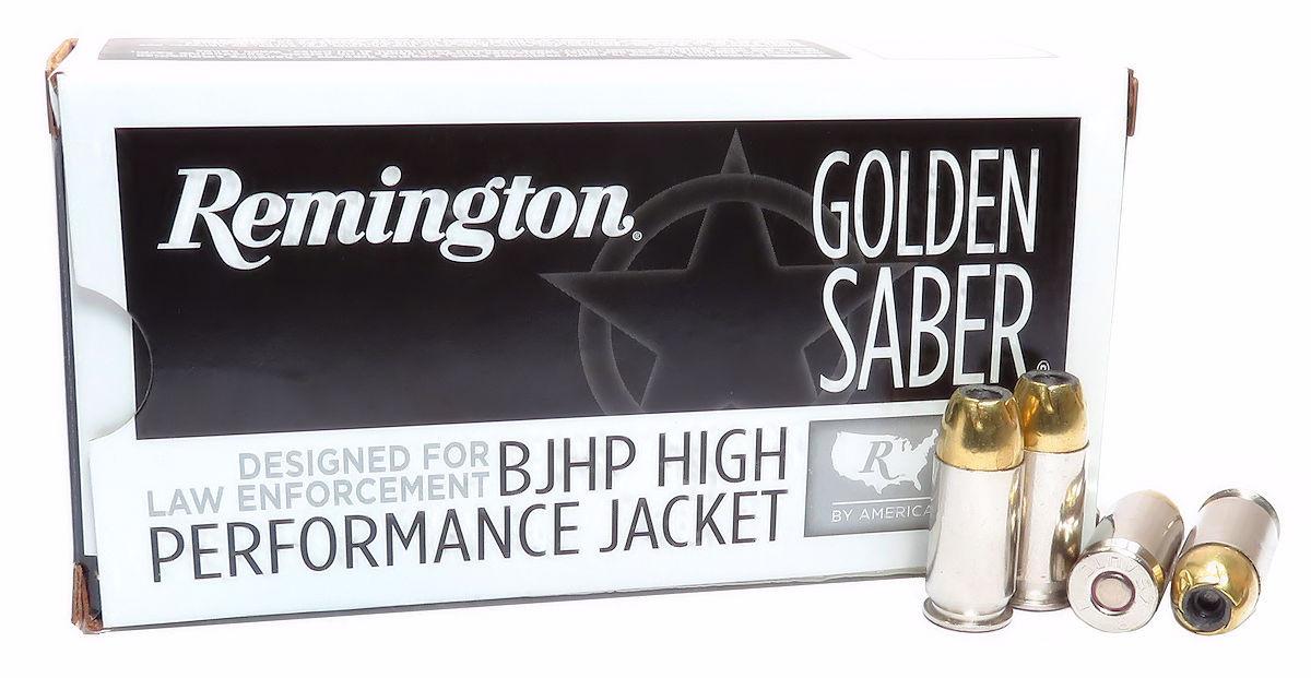 45 ACP Ammo 230gr BJHP Remington Golden Saber (GS45APBB) 50 Round Box