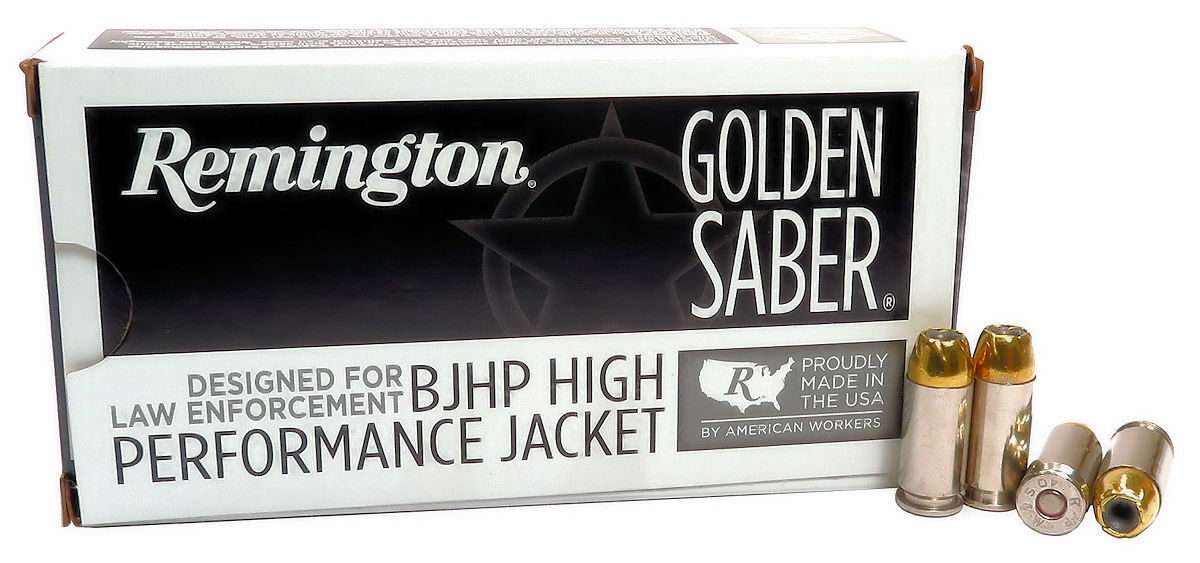 40 S&W Ammo 165gr BJHP Remington Golden Saber (GS40SWAB) 50 Round Box
