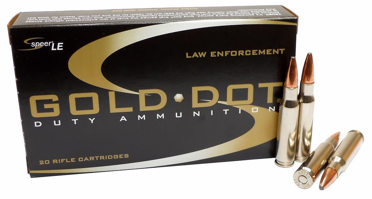 308 7 62x51 Ammo 150gr GDSP Speer Gold Dot (24457) 20 Round Box