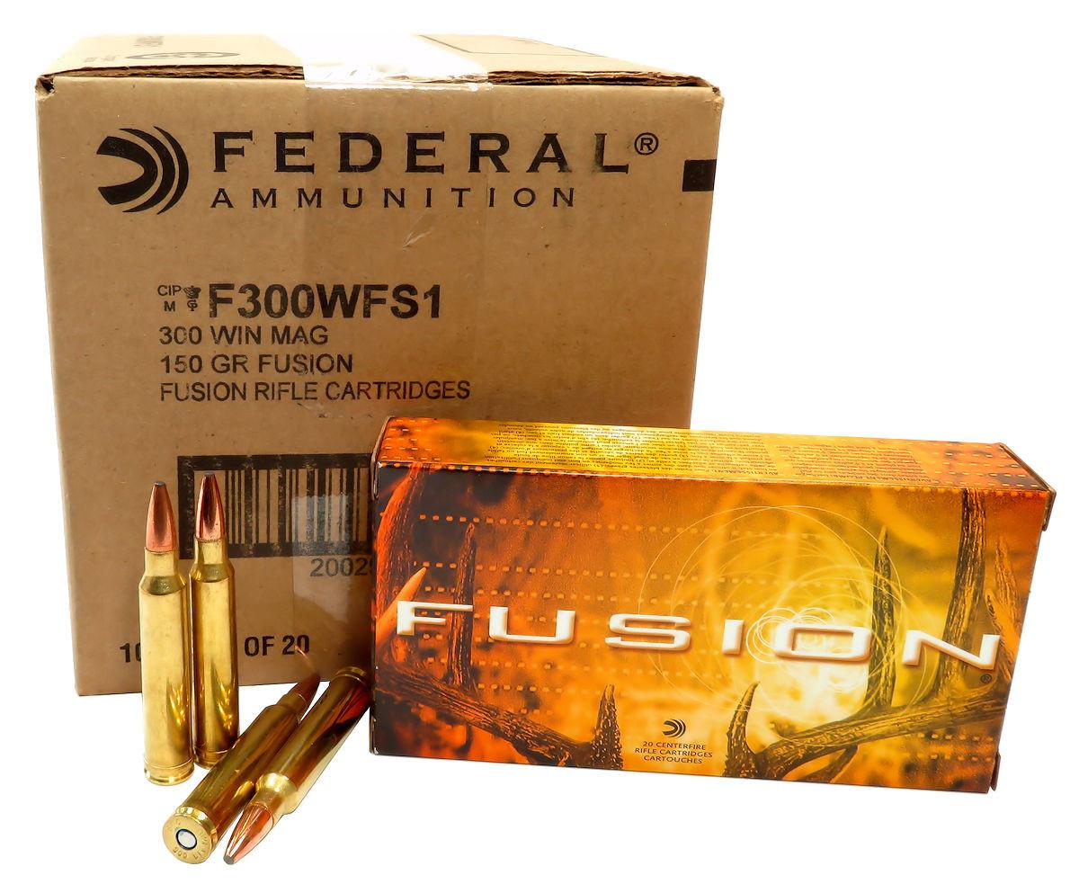 300 win mag ammo 150gr federal fusion f300wfs1 200 round case