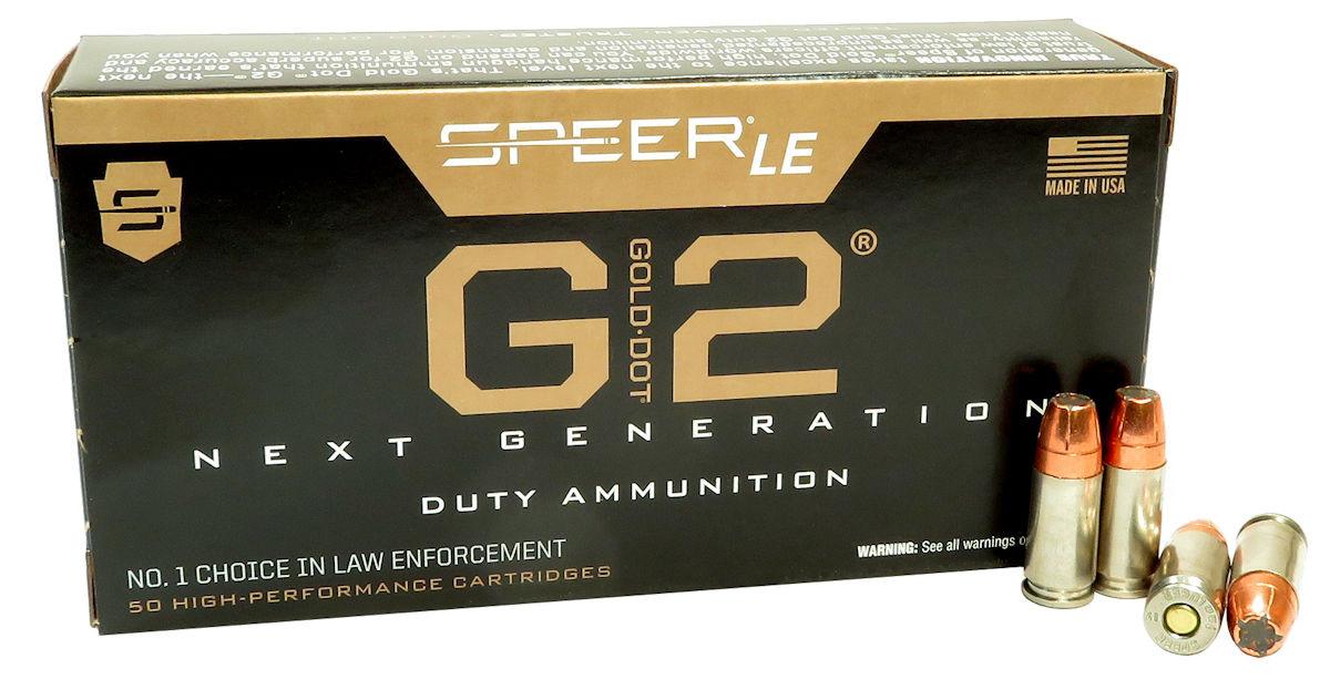 9mm 9x19 Ammo 147gr GDHP Speer Gold Dot G2 (54226) 50 Round Box