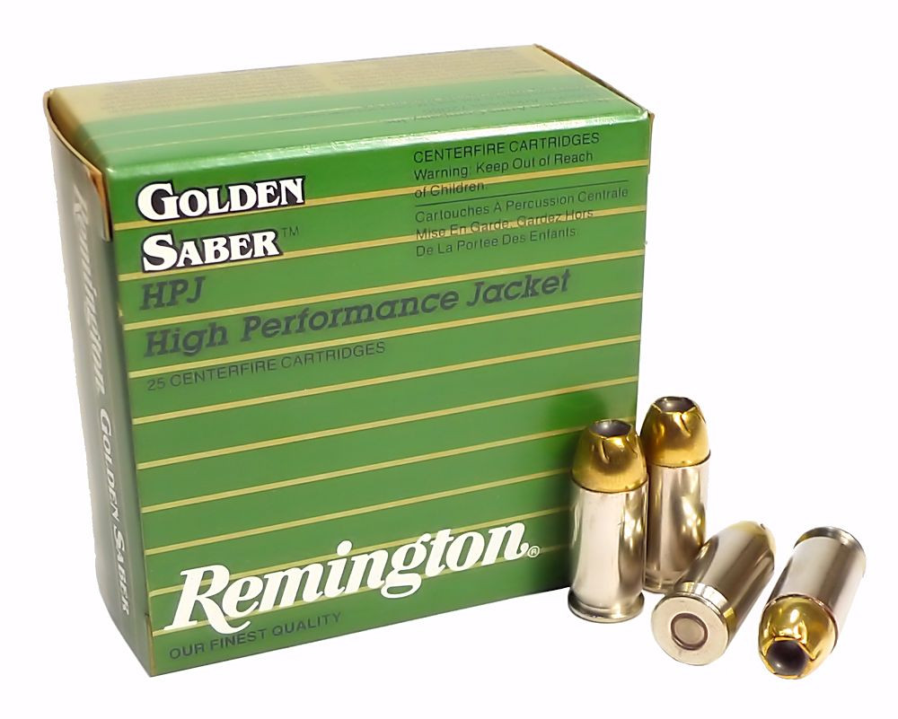 45 ACP Ammo 185gr BJHP Remington Golden Saber (GS45APA) 25 Round Box