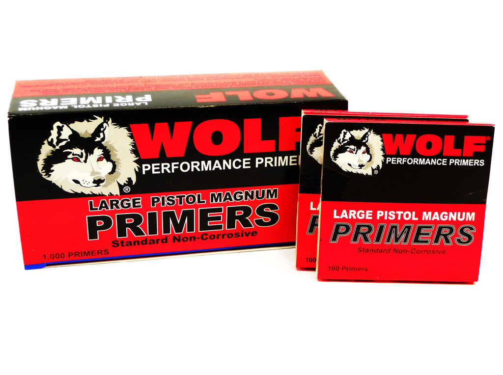 Large Pistol Magnum Primers Wolf Performance 1000 pc box