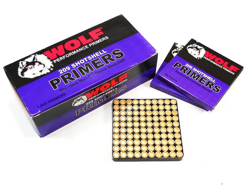 209 Shotshell Primers Wolf Performance 1000 pc box