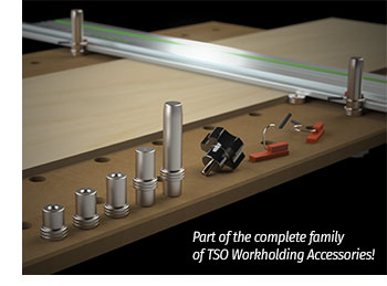 DoubleGroove Dogs are just part of a complete line of innovative workholding solutions from TSO Products.