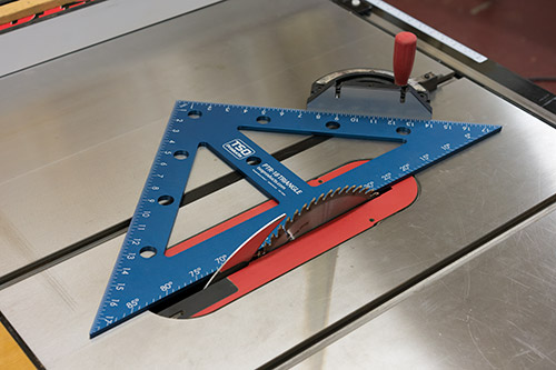 remove the foot to calibrate your miter gauge to the table saw blade or ensure