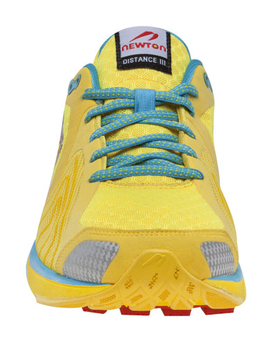 Newton Women's Distance III - Neutral Light Weight Trainer - Yellow / Red
