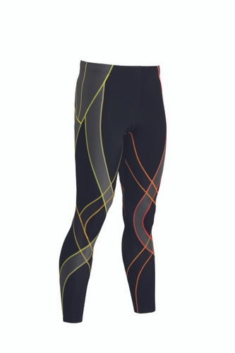 CW-X Mens Endurance Generator Tights 2015 Colour Black/Orange Stripe