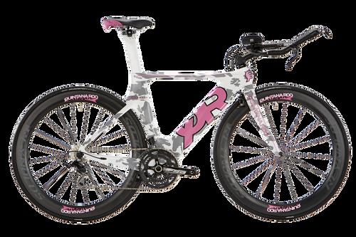 Quintana Roo - Shift Series - CD0.1 Shimano 105  Camo - Pink - Triathlon Bike - Profile T3 Aerobar - Ism Adamo Saddle