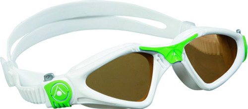 Aqua Sphere - Kayenne Goggle Small - White/ Green - Polarised