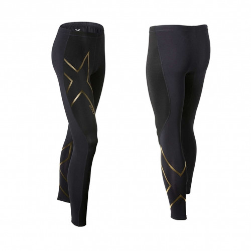 2XU - Elite Merino Thermal Compression Tights - Men's - Black/ Gold
