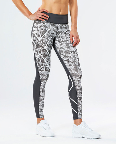 2XU - Pattern Mid-Rise Comp Tights - Women's - 2017