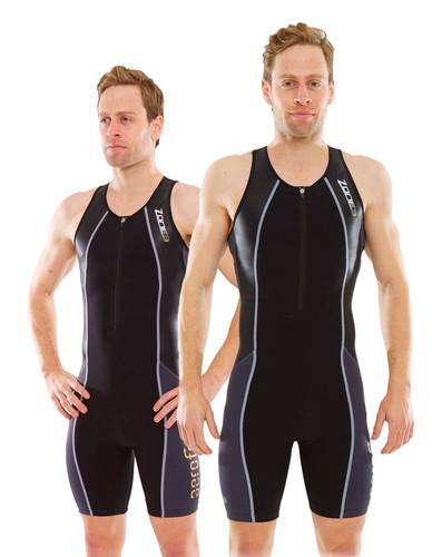 Zone 3 Men's Aeroforce Nano Trisuit - Black / Grey