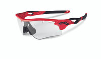 Oakley Sports Performance Sunglasses - Radarlock Path - Infrared Frame - Clear Black Iridium Photocromic Vented Lens -  OO9181-09