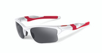Oakley Sports Performance Half Jacket 2.0 XL Sunglasses - Polished White Frame - Black Iridium Lens  OO9154-23