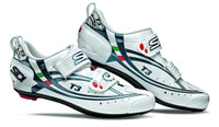 Sidi T3 Carbon Composite Triathlon Shoe in White with Blue