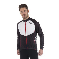 Santini Kines Long Sleeve Jersey Black / White