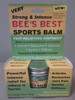 Bee's Best Sports Balm - Compare to Tiger Balm