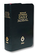 1962 Roman Catholic Daily Missal (Black Imitation Leather)