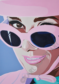 Audrey Hepburn original art and classic hollywood prints