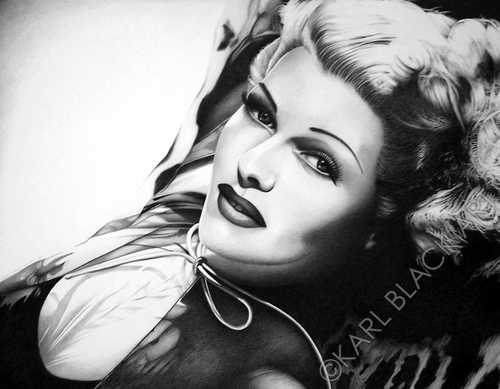 Rita Hayworth black and white art and classic hollywood prints