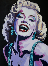 Marilyn Monroe original painting and art