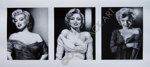 Marilyn Monroe black and white original art and prints