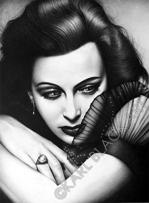 Hedy Lamarr black and white art and classic hollywood prints