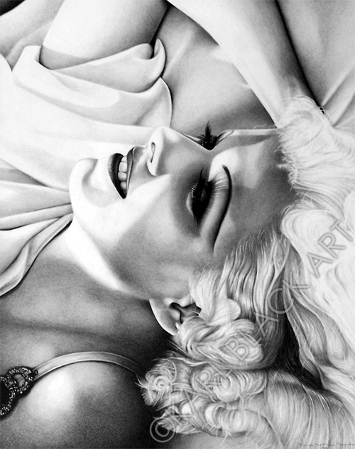 Jean Harlow art black and white print and classic hollywood art