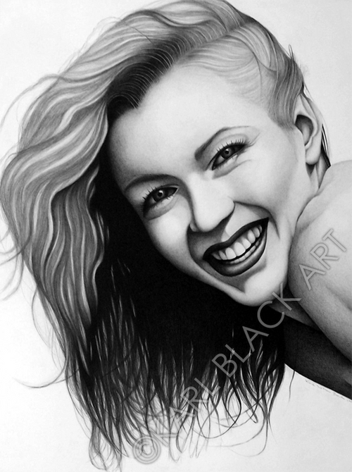 Norma Jean classic hollywood art and black and white prints