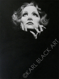 Marlene Dietrich art painting classic hollywood