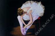 Ballerina art framed print by Karl Black