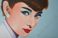 Audrey Hepburn art print by Karl Black