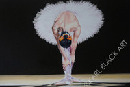 Island Girl Ballerina painting art