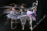 Elegance original oil art in ballerina suite