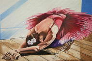 Oil painting of ballerina