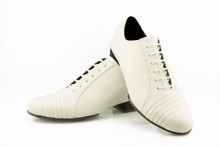 Online Tango Shoes - 2x4 al pie Monserrat - Blanco (fully leather)