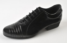 Online Tango Shoes - 2x4 al pie Monserrat - Negro (fully leather)