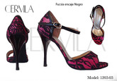 Cervila - Fucsia Encaje Negro (fully leather)