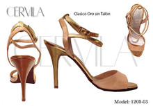 Online Tango Shoes - Cervila - Clasico Oro Sin Talon (fully leather)