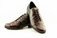 Online Tango Shoes - 2x4 al pie Almagro Flex Negro y Croco Bordo