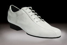 Online Tango Shoes - 2x4 al pie Villa Urquiza - Blanco (fully leather)