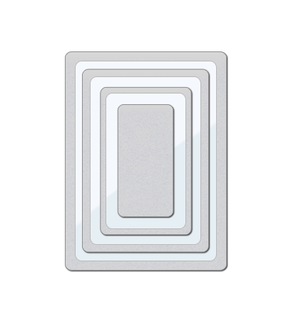 Clear Cut Stackers: Rounded Rectangles