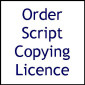 Script Copying Licence (A Hint Of Old World Charm)