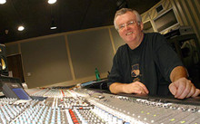 John at his beloved 64trk SSL K Series at Mayfair Studios