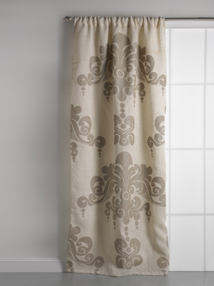 FINAL SALE Enchantique Ivory Jute Window Curtain