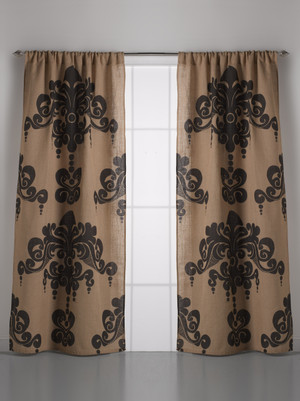 Couture Dreams Enchantique Natural Bark Jute Curtain Pair